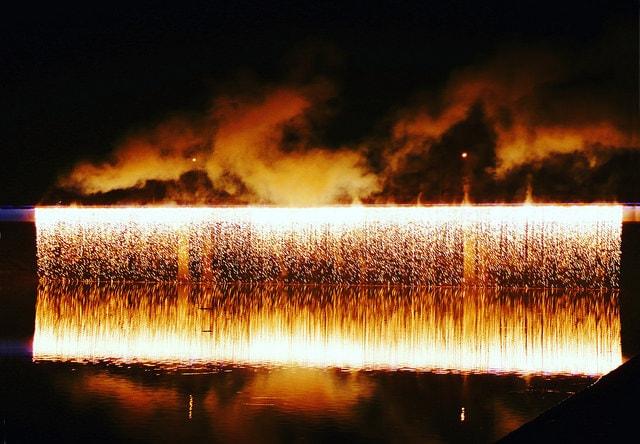 Longest Firework Waterfall