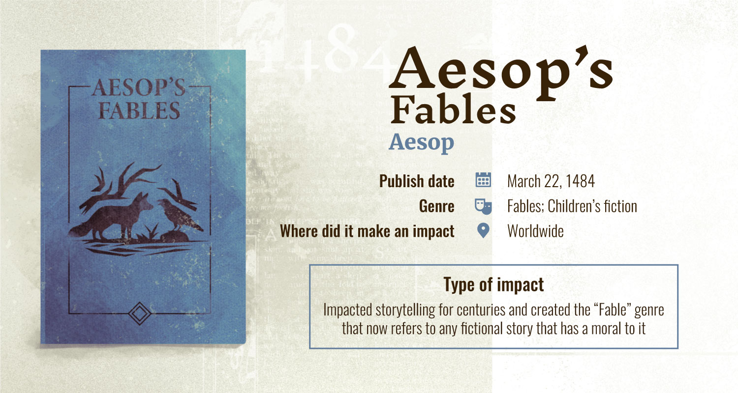 aesops fables books with largest impact
