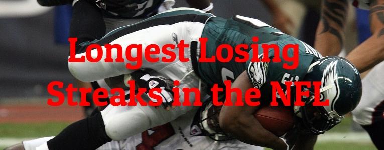 Longest Losing Streaks in the NFL