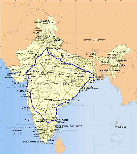 Golden_Quadrilateral_highway_network